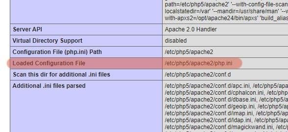 узнаем где находиться файл php.ini